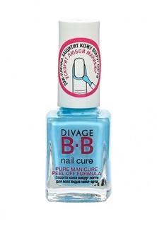 Лак Divage для защиты кожи вокруг ногтей для всех видов нейл-арта pure manicure peel off formula