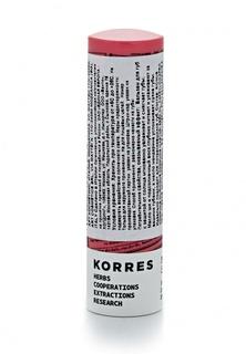 Бальзам для губ Korres с экстрактом мандарина тон персик spf15 5 мл