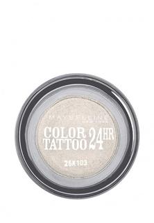 "Тени Maybelline New York для век ""Color Tattoo 24 часа"" оттенок 45 Бесконечно белый 4 мл"