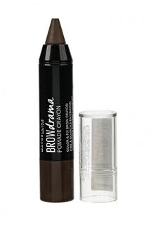 Карандаш-стик для бровей Maybelline New York Brow Drama Pomade 04 Темно коричневый