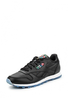 Кроссовки Reebok Classics CL LEATHER BF       BLACK/MOTOR RED/WHIT