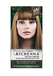 Краска для волос Richenna для волос с хной № 6N Light Chestnut