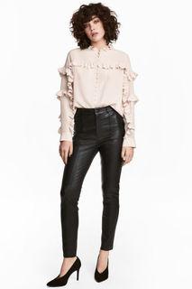 Кожаные брюки H&M