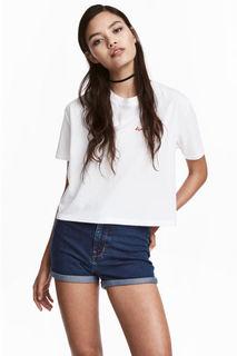 Короткая футболка H&M