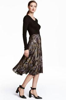 Плиссированная юбка H&M