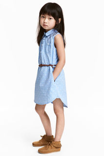 Платье-рубашка без рукавов H&M