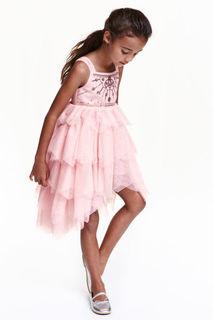 Тюлевое платье с пайетками H&M