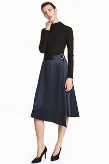Атласная юбка на запахе H&M