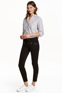 Байкерские брюки H&M