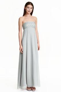 Шифоновое платье с вышивкой  H&M