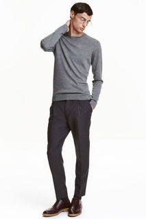 Шерстяные брюки Relaxed fit H&M