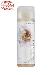 Скраб для тела Greenland цветки хлопка-белый лотос