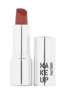 Помада Make Up Factory для губ кремовая Lip Color тон 128 красно коричневый