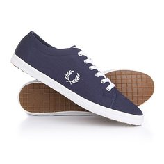 Кеды кроссовки низкие Fred Perry Kingston Twill Carbon Blue
