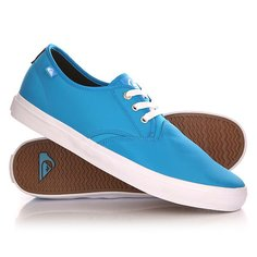 Кеды кроссовки низкие Quiksilver Shorebreak Nylo Shoe Blue/White
