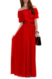 красные платья в пол 6
