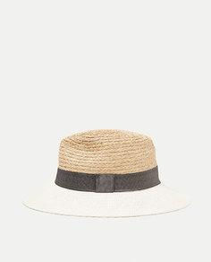 Комбинированная шляпа с жесткими полями Zara