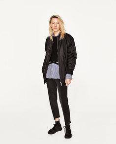 Куртка-бомбер объемного покроя Zara