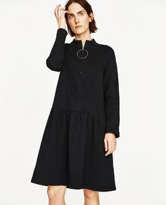 Мини-платье с молнией Zara