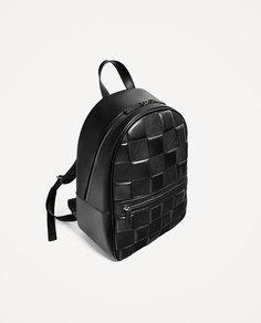 """Черный стеганый рюкзак для ноутбука с диагональю 13"""" Zara"""