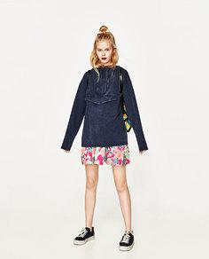 Толстовка с карманом-кенгуру Zara