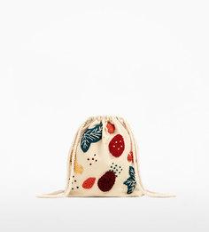 Сумка-мешок с тропическим узором Zara