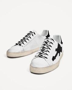 Белые кроссовки «гитара» Zara