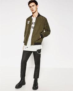 Куртка-бомбер с принтом ramones Zara