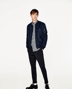 Куртка-бомбер с надписью на спине Zara