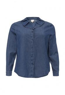 Рубашка джинсовая Just Joan DENIM SHIRT WITH RUFFLE PLEAT COLLAR