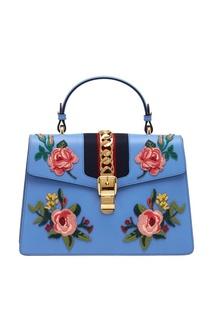 Кожаная сумка Sylvie Gucci