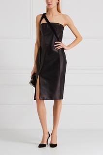 Кожаное платье Mugler