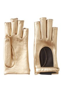 Перчатки из металлизированной кожи Gucci