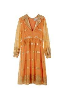 Платье из парчи и шелка Oscar de la Renta Vintage