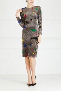Платье с принтом (80-е) Gianni Versace Vintage