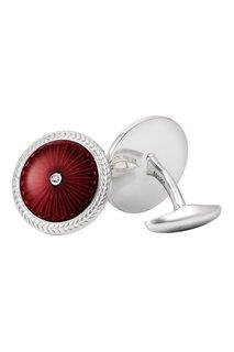 Серебряные запонки с бриллиантами «Эрмитаж» Gourji