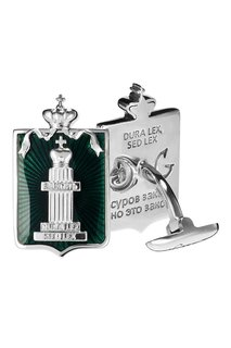 Серебряные запонки «Законъ» Gourji