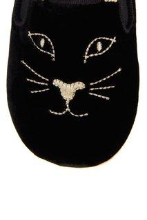Бархатные слипоны Kitten Incy by Charlotte Olympia