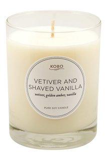 Ароматическая свеча Vetiver And Shaved Vanilla, 312гр. Kobo Candles