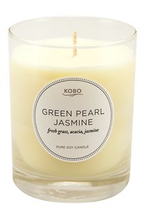 Ароматическая свеча Green Pearl Jasmine, 312гр. Kobo Candles