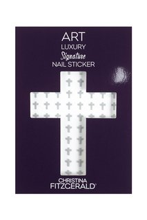 Арт-стикеры для ногтей Art Luxury Signature Nail Sticker «Gray Cross», 96 шт. Christina Fitzgerald