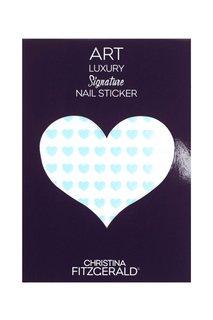 Арт-стикеры для ногтей Art Luxury Signature Nail Sticker «Blue Heart», 96 шт. Christina Fitzgerald