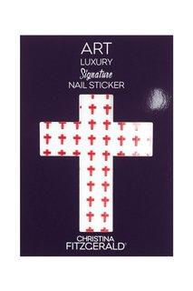 Арт-стикеры для ногтей Art Luxury Signature Nail Sticker «Red Cross», 96 шт. Christina Fitzgerald