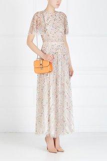 Платье с вышивкой Valentino