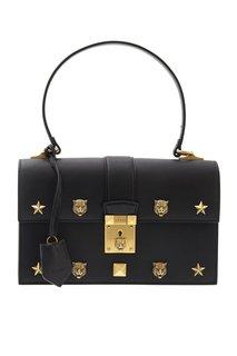 Кожаная сумка Cat Lock Gucci