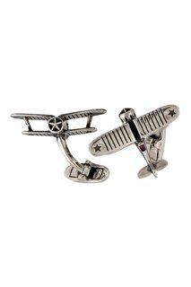 Серебряные запонки с рубинами «И-53» Gourji