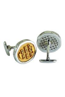 Серебряные запонки «Святой Николай» Gourji