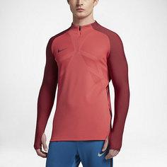 Мужская футболка для футбольного тренинга с длинным рукавом и молнией 1/4 Nike Strike Aeroswift