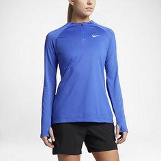 Женская футболка для футбольного тренинга с длинным рукавом и молнией 1/4 Nike