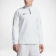 Мужская футболка для футбольного тренинга с длинным рукавом и молнией 1/4 Nike Dry Academy